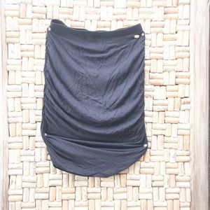 Small Black Cotton high-wasted Guess Skirt